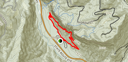 Snoquera Falls Loop Trail Map