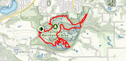 Farmdale Recreation Area Trail Map