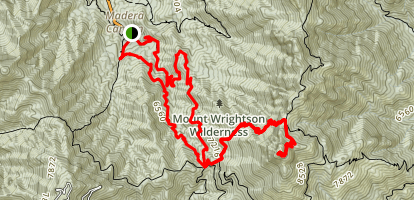 Old Baldy and Mount Wrightson Summit Trail Map