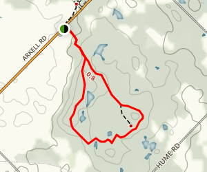 Starkey Hill Trail Map