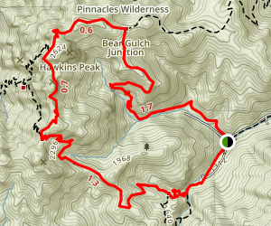 High Peaks Condor Gulch Trail Map