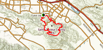Santa Teresa County Park Trail Loop Map