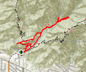 Dunsmore Canyon and Le Mesanger Loop Trails Map