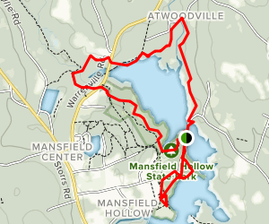 Mansfield Hollow Lake Trail Map