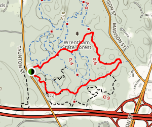 Red Fox Trail Loop Map