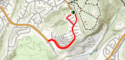 Tierrasanta to Mission Gorge Map