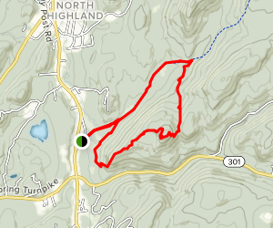 School Mountain Trail, Fahnestock Trail, Route Hill Bypass Trail Loop Map