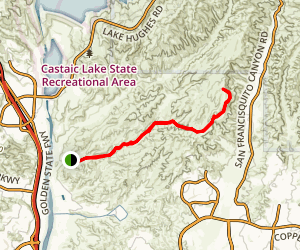 Tapia Canyon Fire Road Map