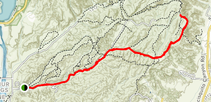 Tapia Canyon Fire Road [PRIVATE PROPERTY] Map