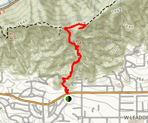 Garcia Trail to Azusa Peak [CLOSED] Map