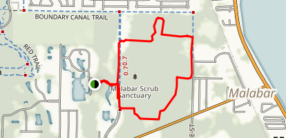 Malabar Scrub Sanctuary Trail Map