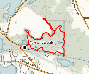 Towner's Woods Trail Map
