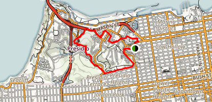 Presidio Promenade Trail Map