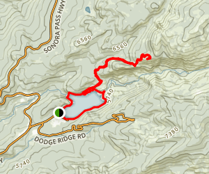 Pinecrest Peak Trail Map