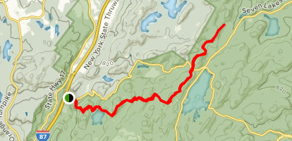 Appalachian Trail: Bear Mountain to Harriman State Park Map