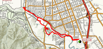 Gavilan Trail [CLOSED] Map