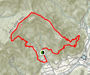 West Ridge Trail to Little Piney Map