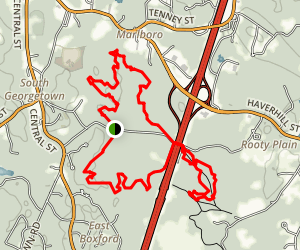 Georgetown-Rowley State Forest Loop Trail Map