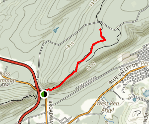 Appalachian Trail: Wind Gap to Fox Gap Map