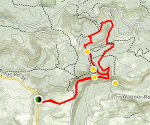 Shellburg and Stassel Falls Trail Map