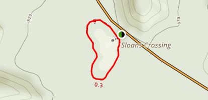 Sloan's Crossing Pond Trail Map