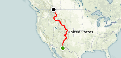 Continental Divide National Scenic Trail Through the US Map