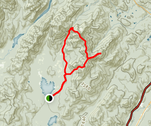 Hunters Pass Loop from Elk Lake Map