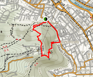 Tbilisi TV Tower Hike Map