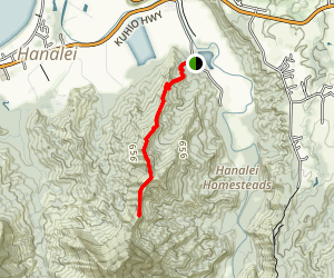 Okolehao Trail Map