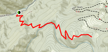 Bangtail Divide Trail Map