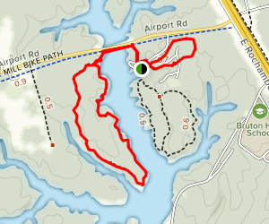 Lookout Tower Trail and Shelter Trail Loop Map