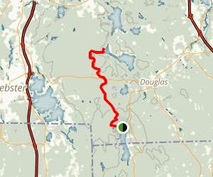 Midstate Trail: Northbound Day One Map