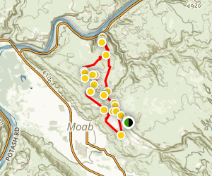 Hell's Revenge and Potato Salad Hill Trail Map