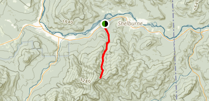 Rattle River via Appalachian Trail Map