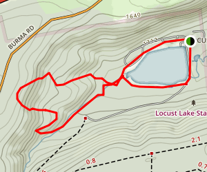 Locust Lake Trail Map