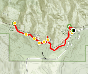 Spectra Point and Rampart Overlook Trails Map