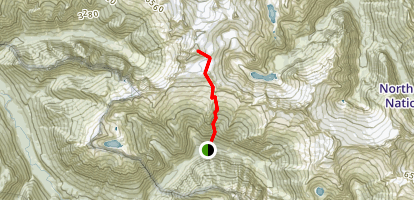 Eldorado Peak East Ridge Trail Map
