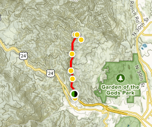 William's Canyon Trail [CLOSED] Map