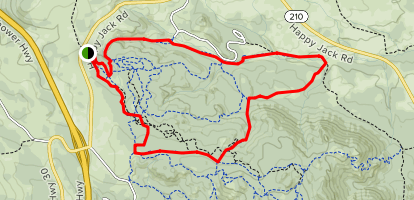 Happy Jack Ski Trails Map