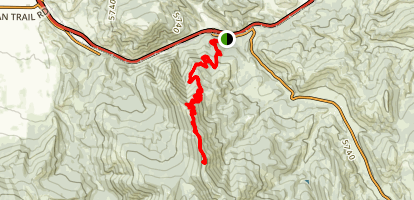 Chestnut Mountain to Frog Rock Trail Map
