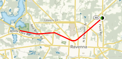 Ravenna-Kent Hike & Bike Trail Map