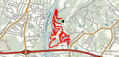 U.S. National Whitewater Center Loop Map