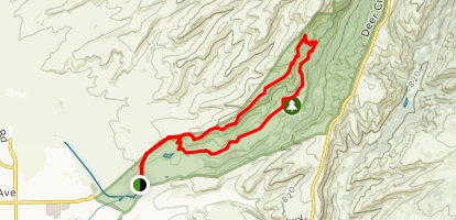 North Rim to B Trail to Middle Trail Map