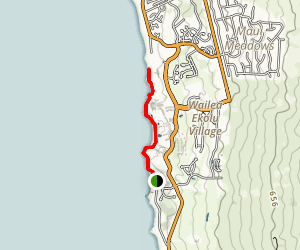 Wailea Oceanfront Boardwalk Trail Map
