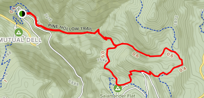 Pine Hollow Trail Map