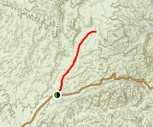 Easy Dry Canyon Trail Map