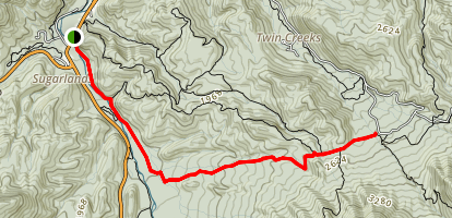 Old Sugarlands Trail Map