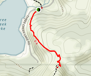 Three Creek Lake Trail Map