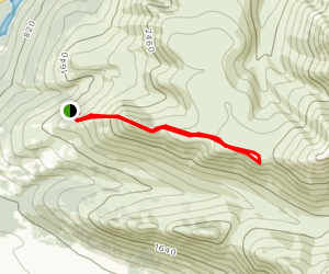 Round Top and Black Tail Rocks Trail Map