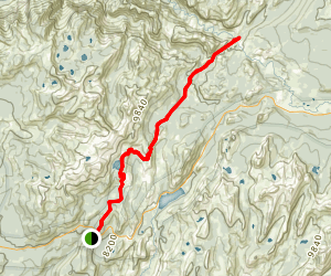 May Lake to Glen Aulin Trail Map